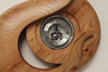 Wood clock Bike or