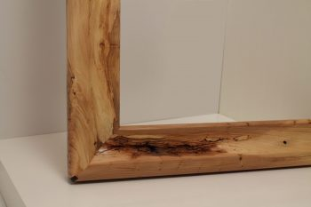 Curved wood frame