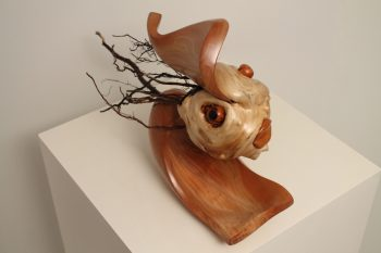 Wood Sculpture Hairy